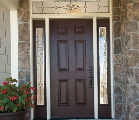 Exterior Fiberglass Doors With Sidelights Fiberglass Entry Doors With Sidelights And Transom Home Design Ideas Front Door Ideas