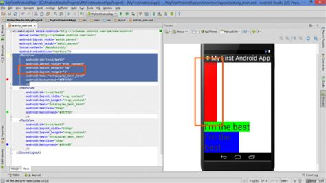 android layout weight calculation lesson how to build android app with linearlayout plus