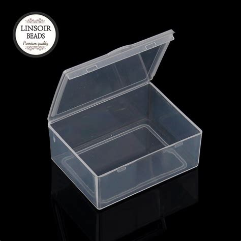 Storage Boxes Bottles Set A white clear plastic jewelry storage box 5pcs set packaging display accessories organizer