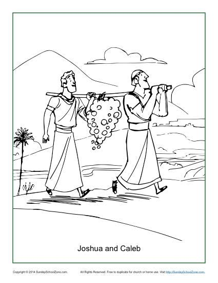 Coloring Page 12 Spies by Joshua And Caleb Coloring Page Children S Bible