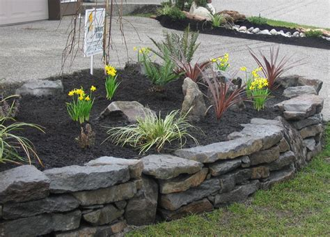 Rock Wall Garden Ideas Rock Walls Landscaping Walls Stack Wall Designs South Surrey Landscape