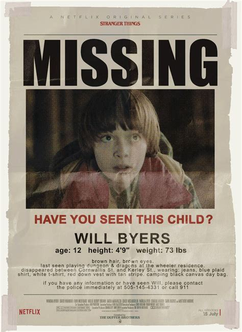 printable missing poster 21 must haves for throwing an epic stranger things themed