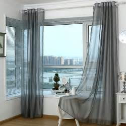 Simple Modern Curtains Inspiration Simple Modern Style Polyester Sheer Curtain In Gray Color