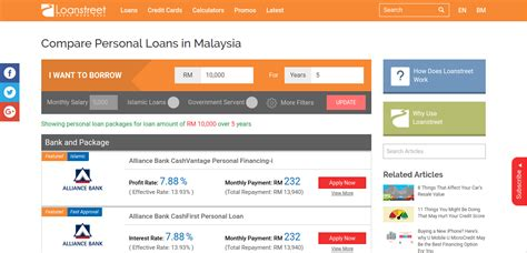 housing loan interest rate calculator best personal loan deals in malaysia compare apply online