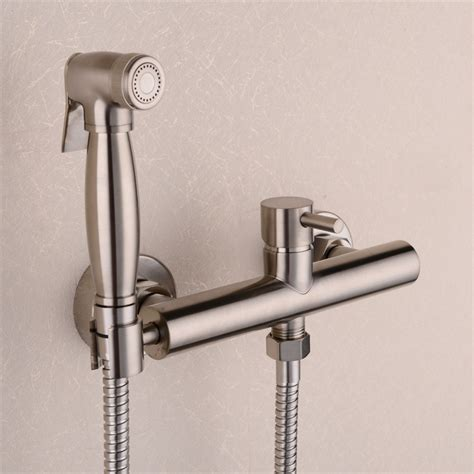 buy brass nickel toilet bidet spray hot