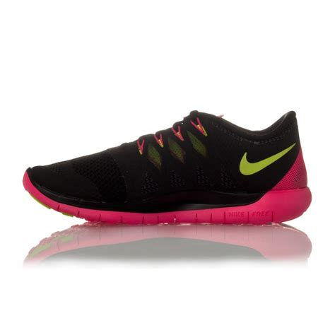 shop nike womens running shoes nike free 5 0 womens running shoes black volt hyper