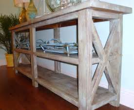 white coastal chic designs rustic console table