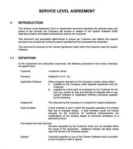 service level agreement 8 free samples examples amp format