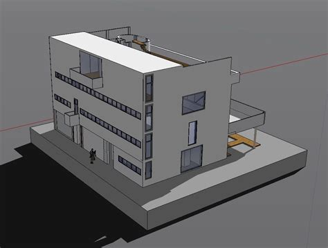 sketchup layout to autocad sketchup 3d architecture models villa stein le corbusier