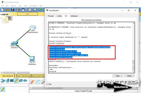 tutorial cisco packet tracer router configure telnet in cisco packet tracer images video