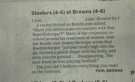 new york times sports section i was quoted yesterday in the new york times sports