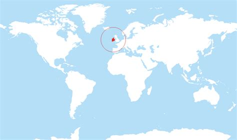 where is ireland located on the world map