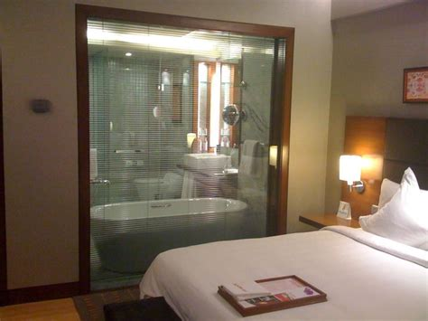 bedroom with glass walls good idea a glass wall between bathroom and bedroom quite