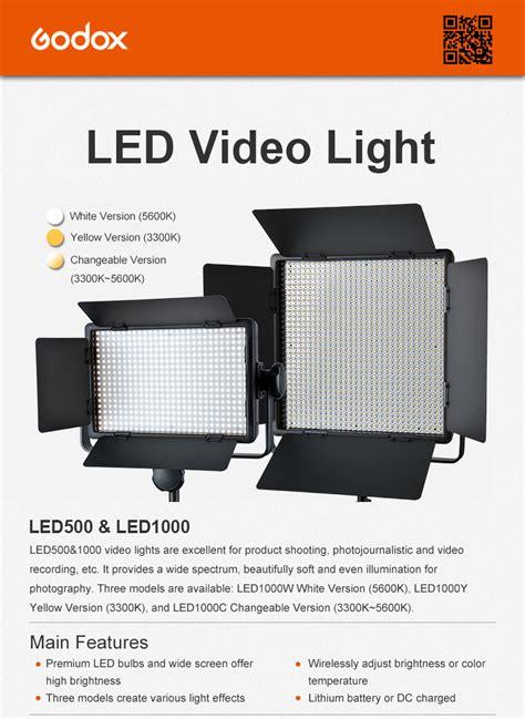led lighting professional ltd godox photo equipment co ltd led500 led1000