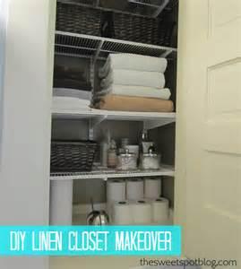 before after linen closet makeover the sweet spot
