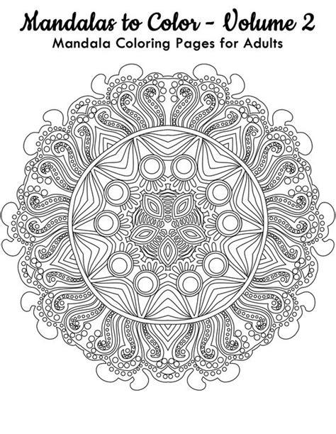 mandala coloring book for adults volume 2 mandala coloring mandalas to color and mandalas on