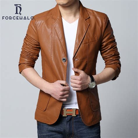 blazer pria formal casual slim fit deals mens leather jacket casual slim blazer
