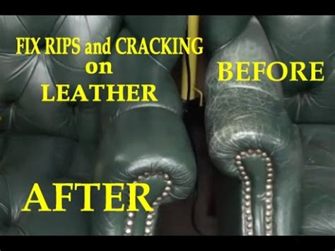 how to repair a rip in a leather couch fix rips and cracking on a leather chair youtube