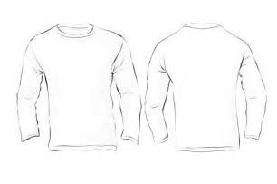 White Long Sleeve Shirt Template Back Sketch Coloring Page sketch template