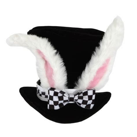 Rabbit Top Ml white rabbit top hat with ears