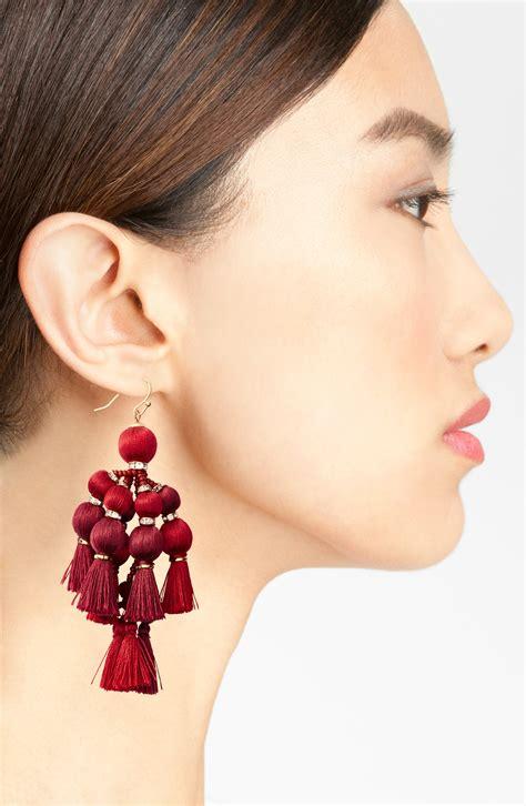 Anting Coloured Poms Tassel Earrings kate spade pretty pom tassel drop earrings 183 kate middleton style