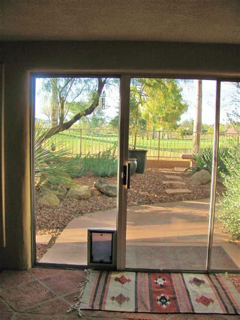 glass door with pet door built in sliding door with dog door built in images