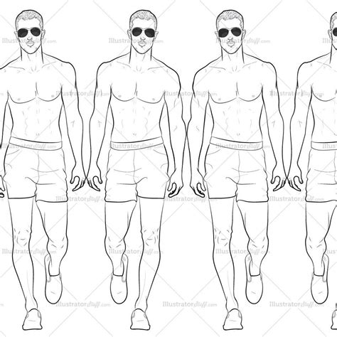 male runway croquis template jake illustrator stuff