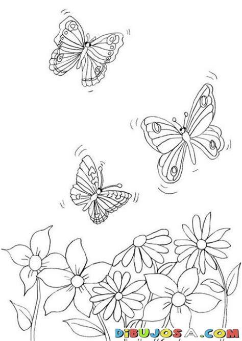 imagenes de mariposas y flores para dibujar laminas para colorear coloring pages flores para pintar