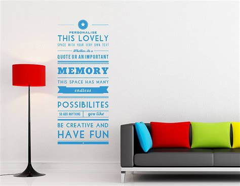 personalised wall sticker quotes personalised quotes wall stickers kamos sticker