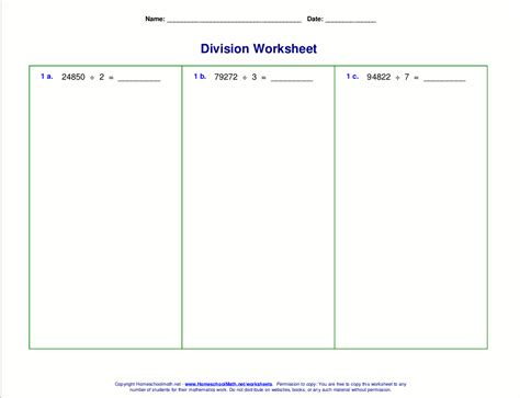 Www Homeschoolmath Net Worksheets by Division Worksheets For Grades 4 6
