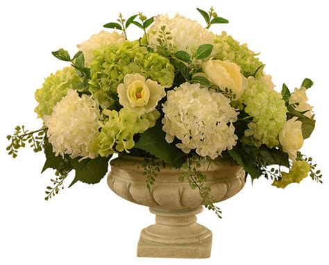 silk flower arrangements white and green hydrangea large silk flower arrangement