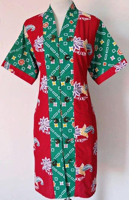Dress Batik 01 dress batik santika 01 baju kerja batik