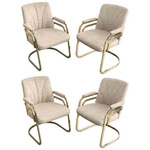 Chromcraft Dining Room Furniture Set Of Four Chromcraft Sculptural Brass Dining Chairs At