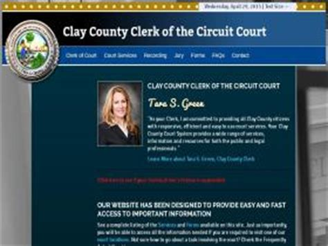 Clay County Clerk Of Court Official Records Cic Countyofkane Org Find More