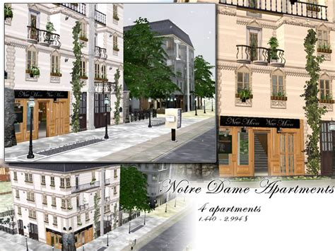 Sims 2 Apartment Zoning Mod The Sims Notre Dame Apartments