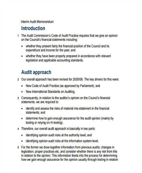audit memo template 6 audit memo exles sles