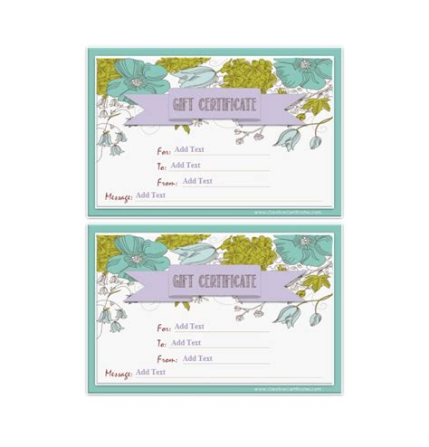 40 free gift certificate templates template lab
