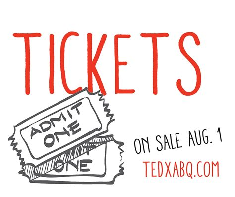 tickets on sale today tedxabq