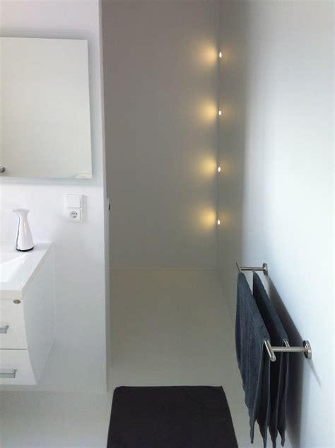 beleuchtung in der dusche led sidelights im bad wir bauen unser haus