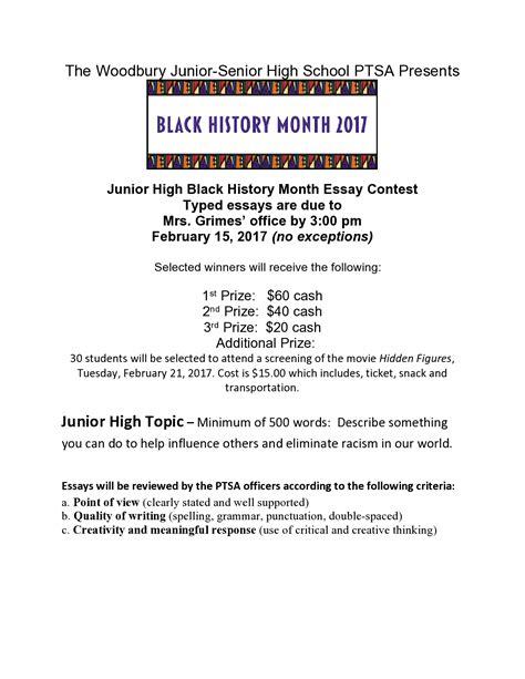 History Essay Contests For High School by Black History Month Essay Contests Woodbury Junior Senior High School