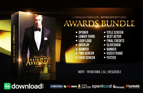 Awards Bundle Free Download Videohive Template Free After Effects Template Videohive Projects After Effects Awards Template