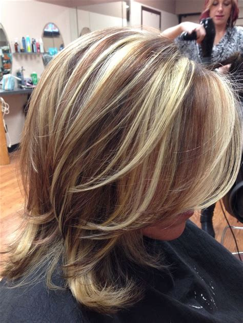 haircuts with color and highlights red brown lowlights and highlights hair pinterest