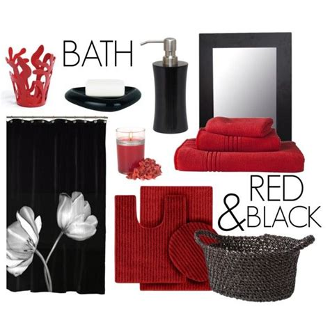red black bathroom accessories red black bath decor red black bath and decor