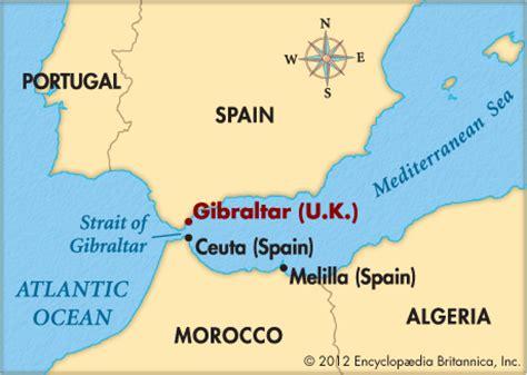 strait of gibraltar map gibraltar encyclopedia children s homework help dictionary britannica