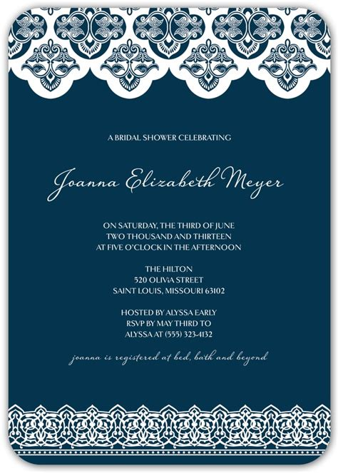 kleinfeld bridal shower invitations wedding shower invitation kleinfeld paper