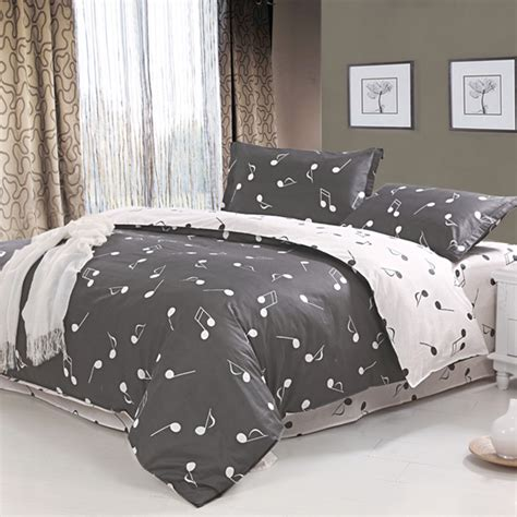 music note comforter set which has a nice intricate design and louder colors