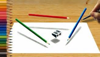 3d pencil drawing levitating colored pencils amp sharpener speed draw jasmina susak
