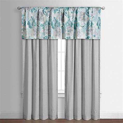 teal curtains bed bath and beyond claire window valance in teal bed bath beyond
