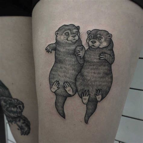 otter tattoos otter best ideas gallery