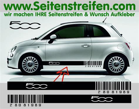 Autoaufkleber Fiat 500 by Fiat 500 Aufkleber Auto Bild Idee